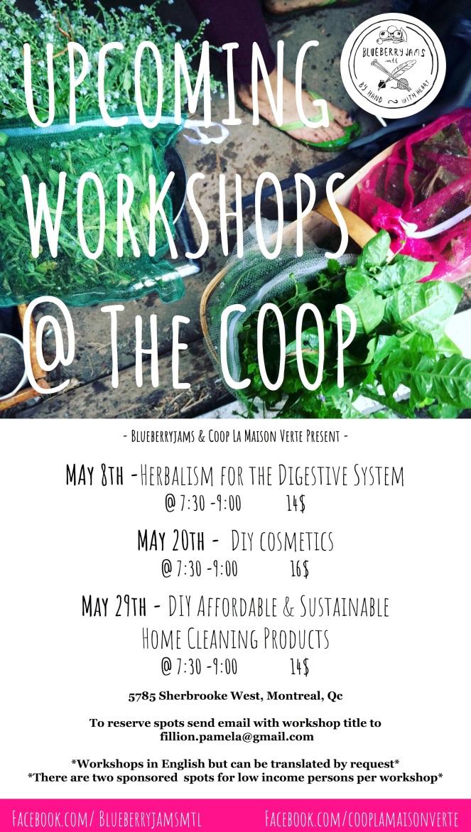 Upcoming Workshops - Spring_Summer Coop La Maison Verte-2